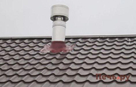 Мастер флеш установка на профнастил: гидроизоляция дымохода
